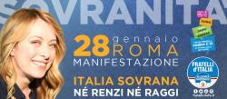 Giorgia Meloni ci riprova con Italia Sovrana, la manifestazione del 28 gennaio per un nuovo centrodestra