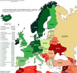 Quali sono i Paesi più ricchi in Europa? La nuova mappa 2016. Italia sorpassata da Spagna e Malta