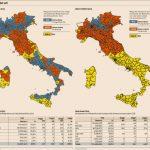 elezioni con il mattarellum, mappe dell'Italia con i colori