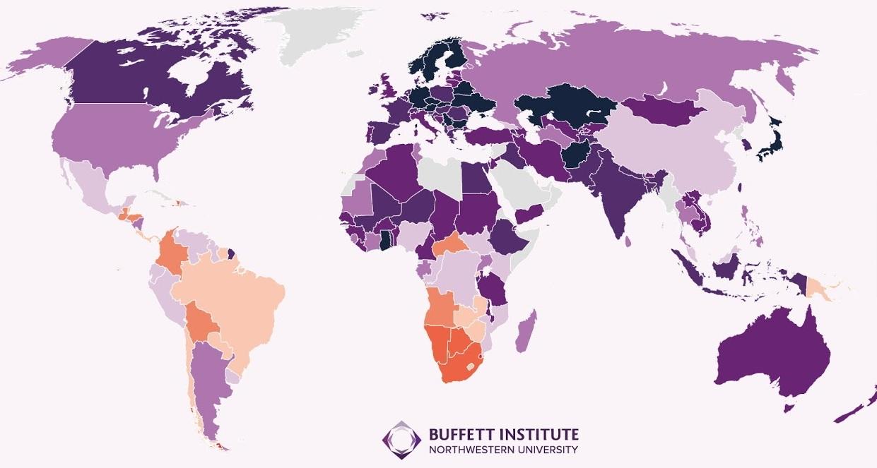Cartina Politica Mondo 2017.Concentrazione Ricchezza La Mappa Mondiale Paese Per Paese