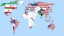 La mappa dei Paesi più pericolosi al mondo secondo le opinioni dei cittadini dei vari Paesi, primi gli USA