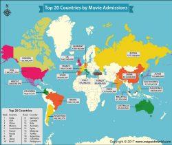 Dove si staccano più biglietti del cinema al mondo? Ma in India naturalmente – la mappa