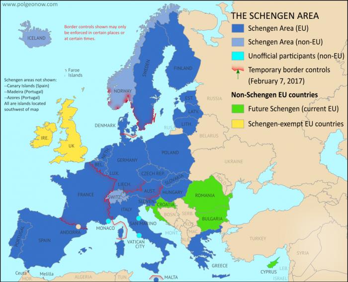 mappa schengen