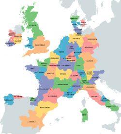 Mappe Europa: Idaho come la Sardegna, Cataluña come il New Jersey