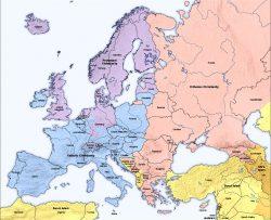 Mappe del Mondo: le maggioranze religiose in Europa, Nord Africa e Medio Oriente