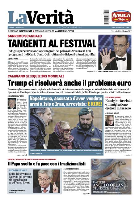 Rassegna stampa 1 febbraio 2017 termometro politico for Camera deputati rassegna stampa