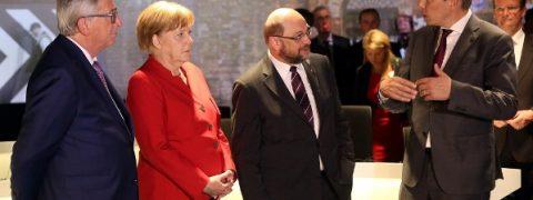 sondaggi elettorali germania, analisi delle intenzioni di voto - Angela Merkel (CDU) e Martin Schulz (SPD), principali candidati alla Cancelleria