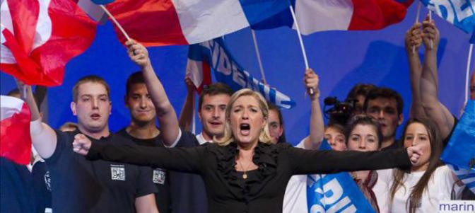 sondaggi politici, elezioni francia, marine le pen, macron