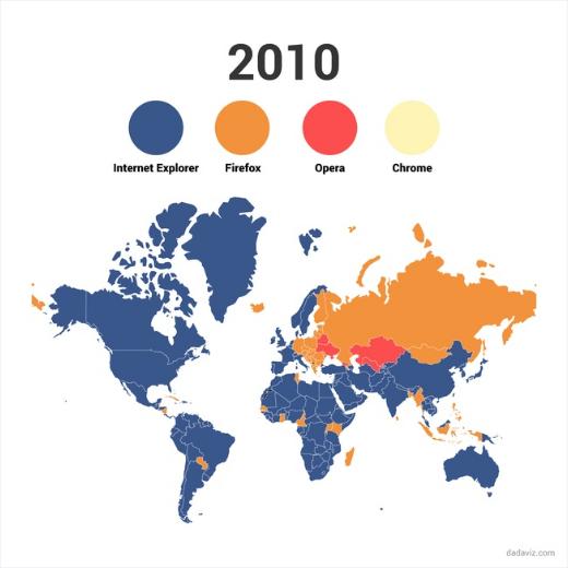 mappe, browser più usato