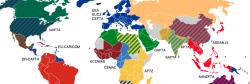 Mappe: tutte le aree di libero scambio del mondo in una sola mappa
