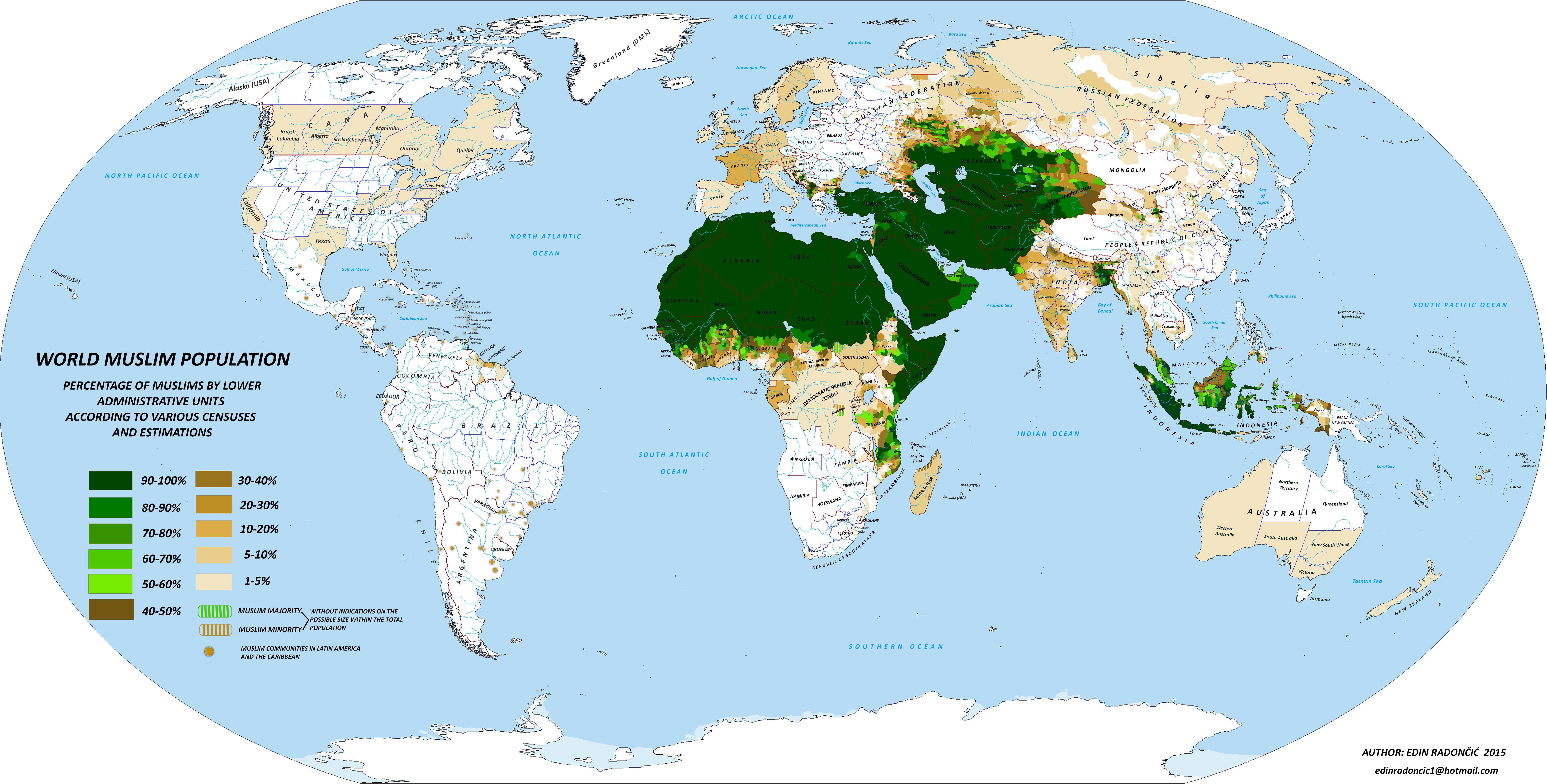 Religioni Nel Mondo Cartina.Islam Nel Mondo La Mappa Dettagliata Di Dove E Piu Diffuso