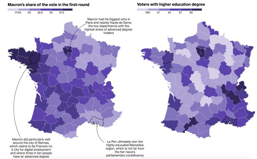 elezioni francia, macron, le pen