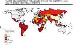 Mappe, in quali Paesi viene offerta una sigaretta ai 13enni dalle industrie del tabacco. C'è anche l'Italia