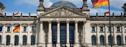 legge elettorale, il sistema tedesco - facciata esterna del bundestag, il Parlamento federale di Germania