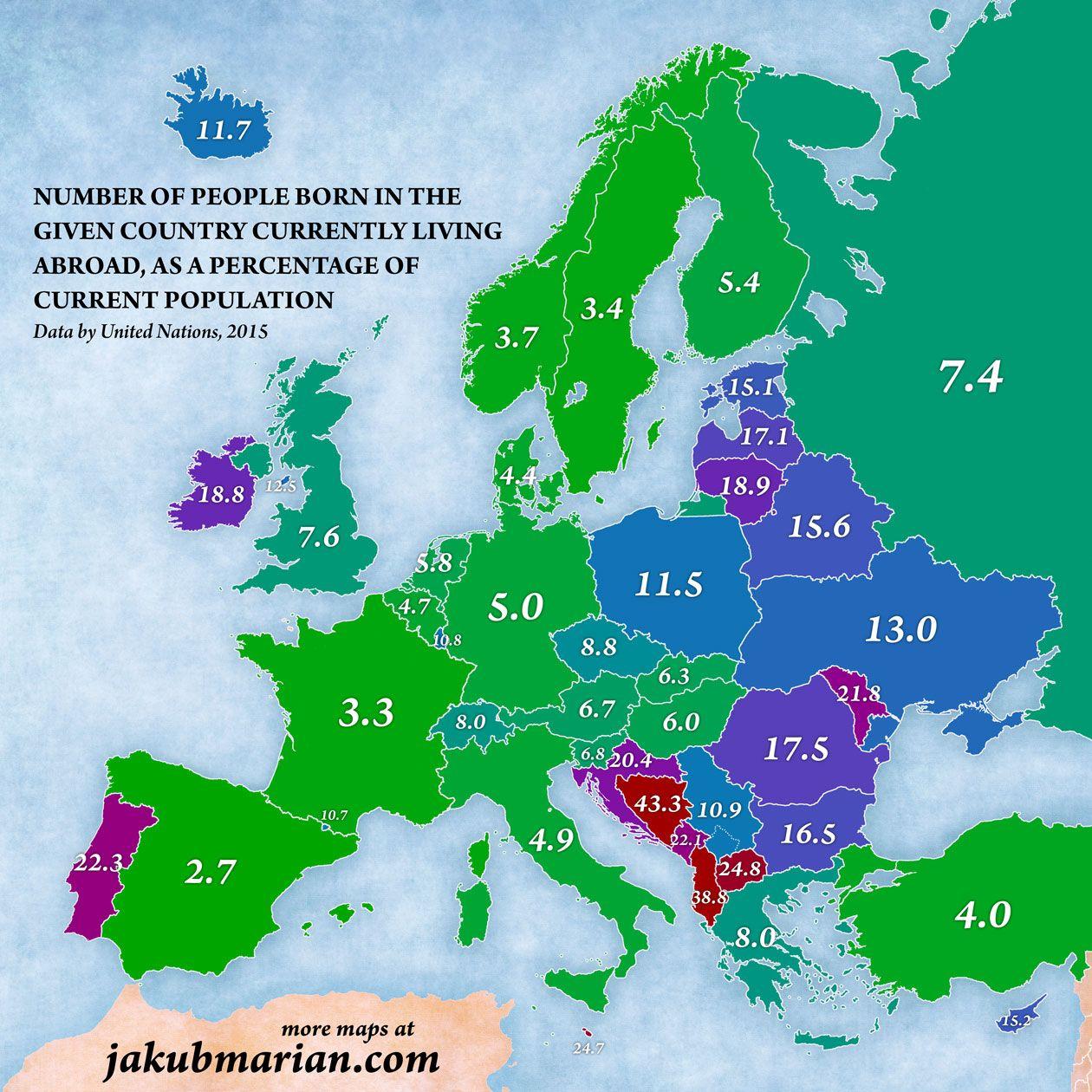 mappe, immigrazione