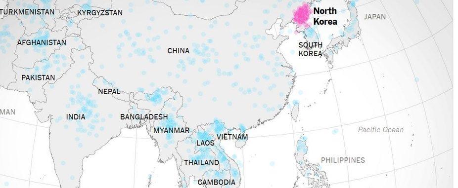 mappe, mappe corea del nord