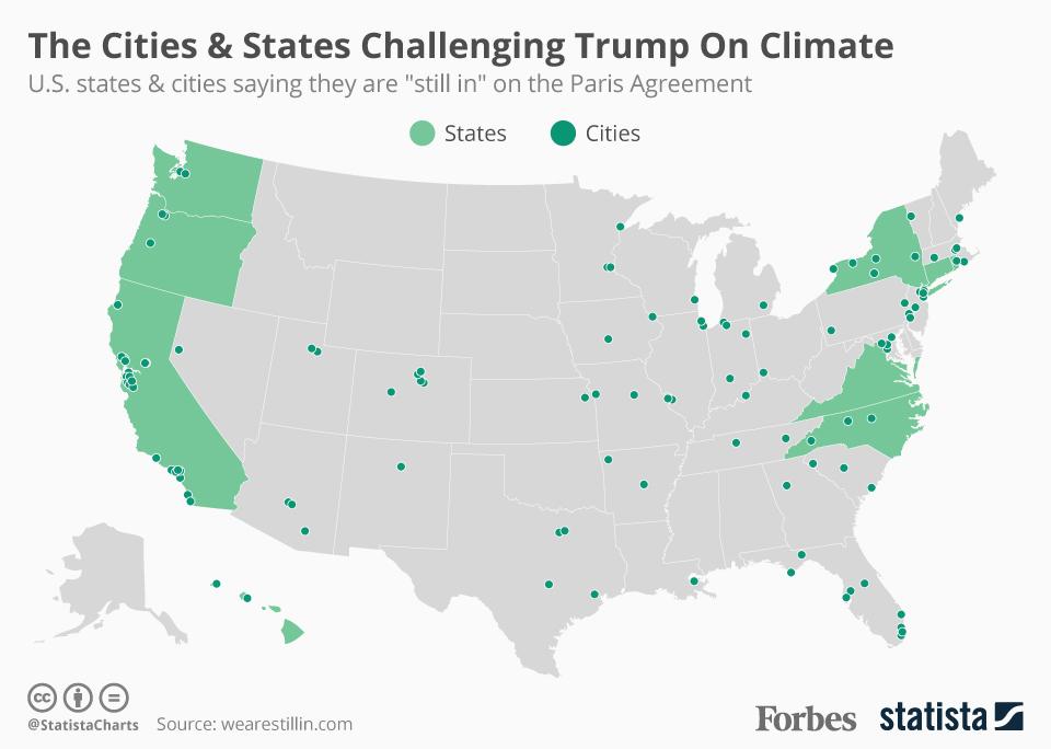 accordo sul clima, mappe