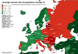Calo della popolazione, Italia tra le peggiori nella UE