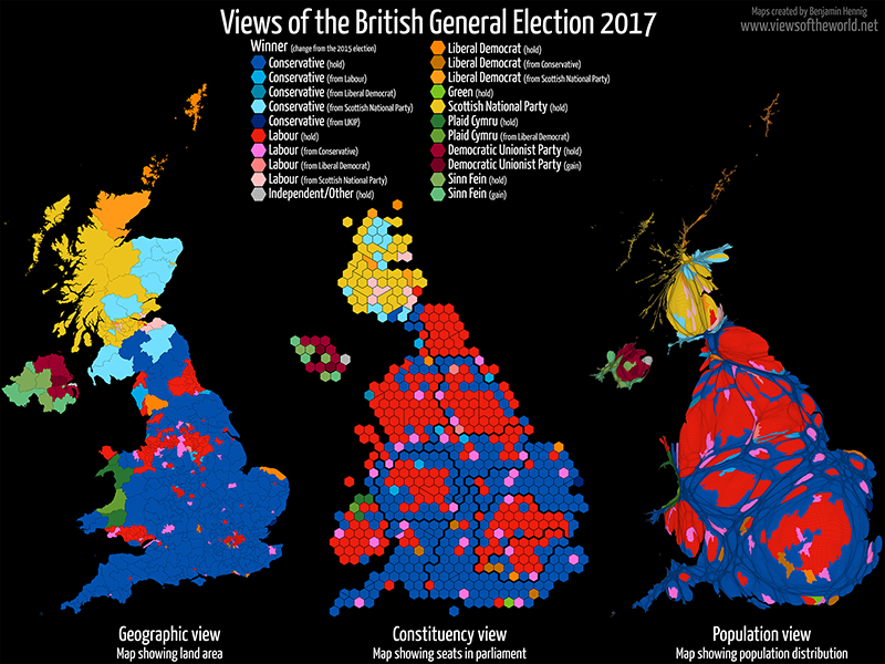 elezioni gran bretagna, mappe, elezioni regno unito