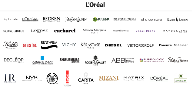 mappe, mappe l'oreal