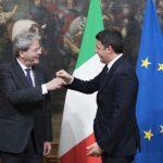 sondaggi - Paolo Gentiloni e Matteo Renzi