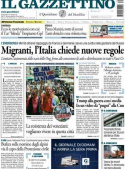 Prima pagina 3 luglio 2017, quotidiani e sportivi
