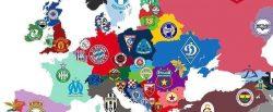 Mappe: la squadra che ha vinto più campionati paese per paese