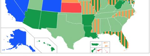 mappe legalizzazione cannabis stati uniti