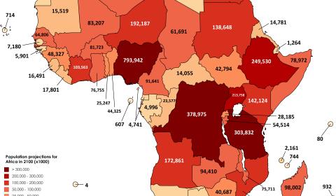 mappe popolazione africa