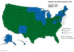 Stati Uniti, pena di morte: dov'è vigente e il suo livello di approvazione