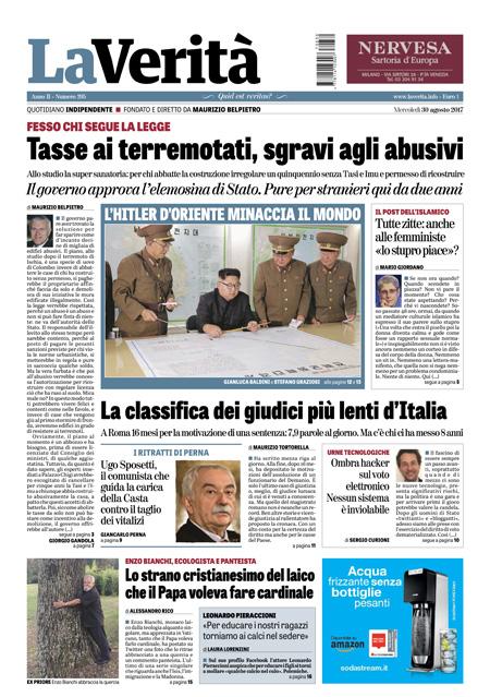 Rassegna stampa 30 agosto 2017
