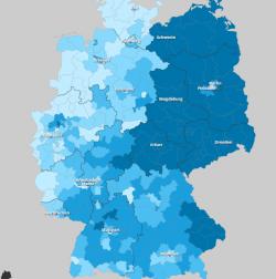 Elezioni Germania, dove vince la Afd, la mappa