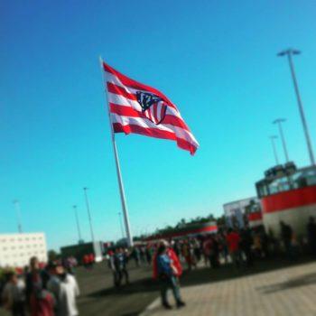 Atletico Madrid bandera liga spagnola