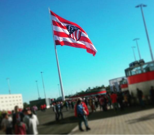 Atlético Madrid - Sevilla Copa del Rey Bandiera