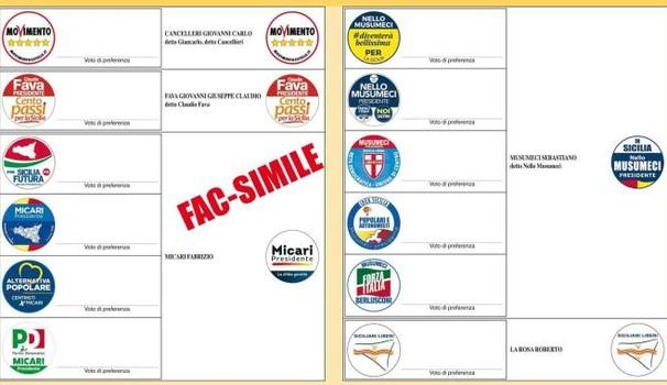 elezioni regionali sicilia, scheda elettorale