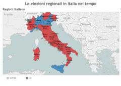 Elezioni regionali, dal 1995, quanti abitanti governano le coalizioni? – Infografiche