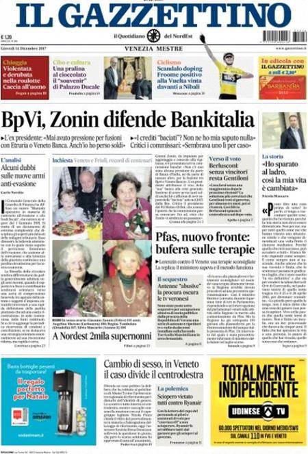Rassegna stampa 14 dicembre 2017