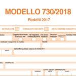 Modello 730 2018: istruzioni in pdf online scaricabile