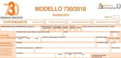Modello 730 2018: istruzioni e pdf online, la nuova scadenza