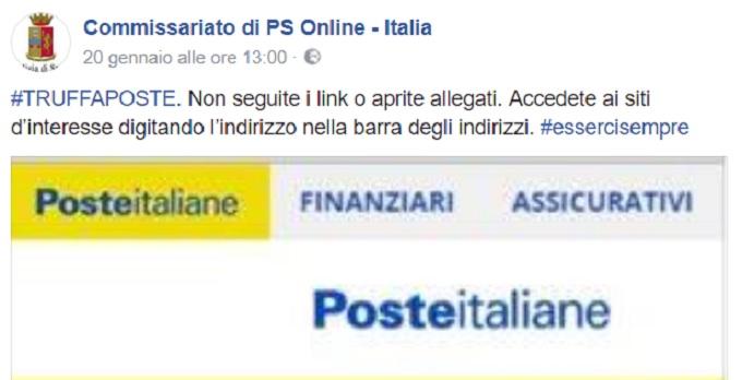 Poste Italiane: truffa conti Bancoposta, allarme Polizia Postale