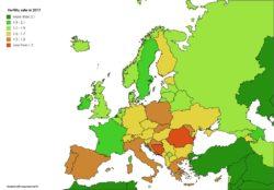 Fertilità Europa, la mappa con i Paesi in cui si fanno più figli