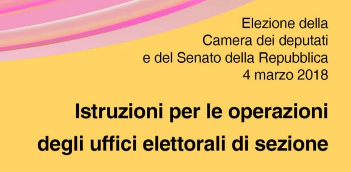 Libretto istruzioni seggio elettorale pdf