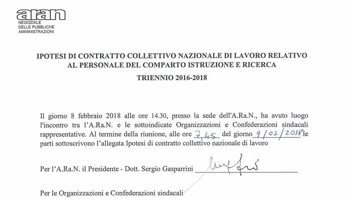 Rinnovo contratto scuola: aumento e sanzioni, il pdf definitivo