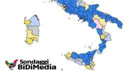 Sondaggi politiche 2018: proiezioni Bidimedia, centrodestra verso la maggioranza