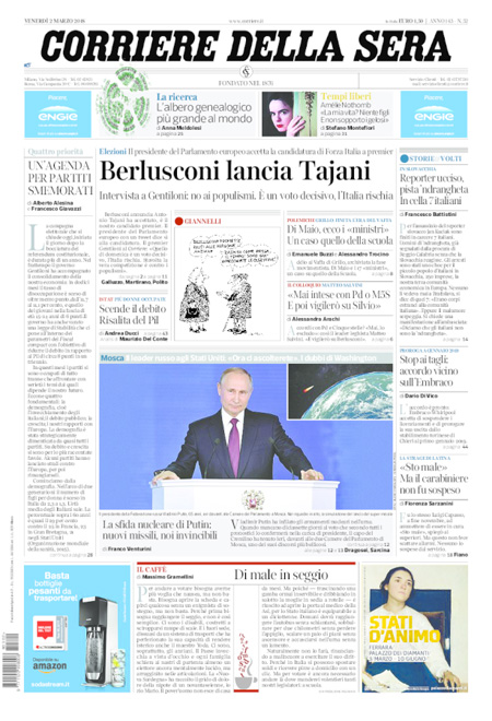 Rassegna stampa 2 marzo 2018