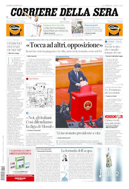 Rassegna stampa 12 marzo 2018