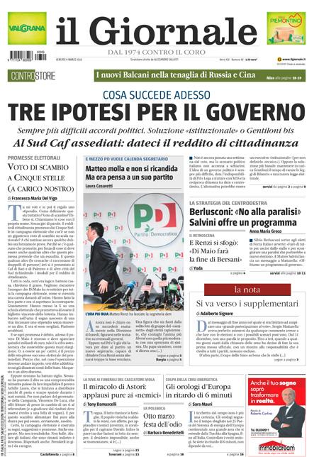 Rassegna stampa 9 marzo 2018