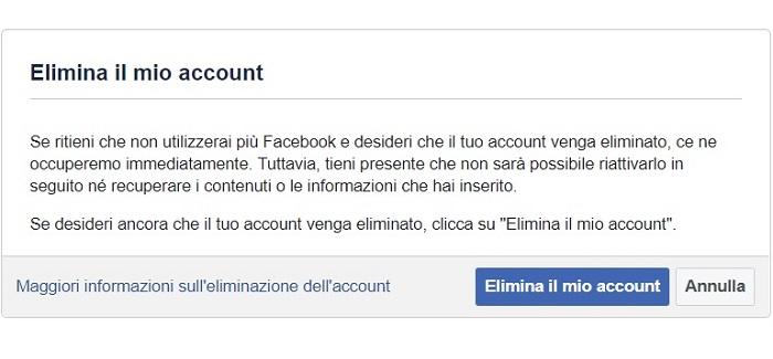 Come cancellare account Facebook per sempre: la guida