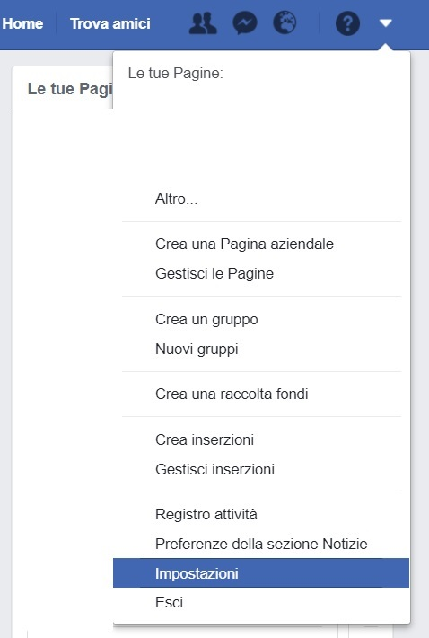 Come cancellare account Facebook: disattivazione 1