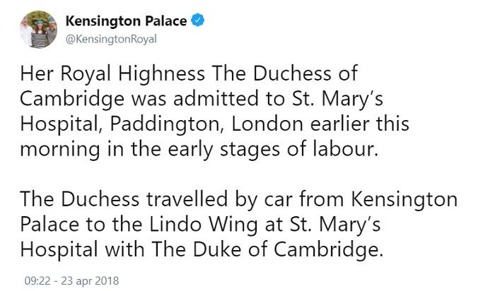 Kate Middleton: terzo Royal Baby, diretta live